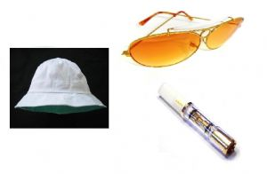 Fear and Loathing in Las Vegas White Hat, Sunglasses and Cigarette holder set